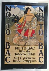 Vintage Maxfield Parrish No To Bac Tabacco Musuem Print Lithograph 1993 CH2