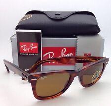 New RAY-BAN Sunglasses RB 2140 954 50-22 WAYFARER Light Tortoise w/ Brown Lenses