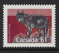 CANADA:1990 61c Wolf definitive perf 13 SG1273a MNH