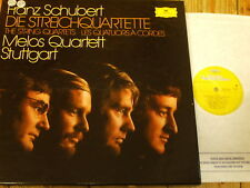2740 123 SCHUBERT la stringa QUARTETTI/Melos Quartet Stoccarda 7 LP BOX