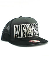 074c9b90 New Era Avengers 9fifty A-Frame Snapback Hat Adjustable Cap Official Black  NWT