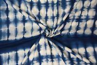 Shibori Fabric Tie Dye Dress Making Fabric By The Metre Indigo Sewing Fabric