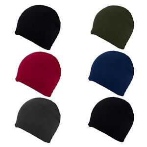 Womens Fleece Beanie Hat Ladies Warm Insulated Super Soft Cosy Lined Ski Cap