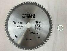 Faster Tools HM Holz Kreissäge Säge Kreissägeblatt 250 X 30mm 20mm Z60 - NEU+OVP