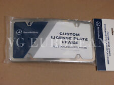 Mercedes-Benz Genuine Curved Stainless Steel License Plate Frame C E G S ML GL