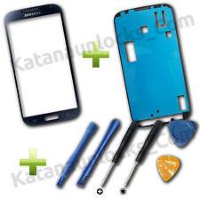 Schermo Vetro per Samsung Galaxy S4 I9500 I9505 Nero con Biadesivo e Strumenti