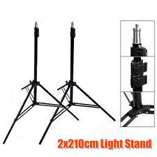 Photo Studio 2x 210cm Tall Light Stand Tripod for Video Lighting Flash Umb Stand