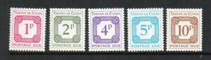 TRISTAN DA CUNHA MNH 1976 D11-D15 POSTAGE DUES