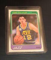 John Stockton 1988 Fleer #115 RC Utah Jazz Centered Sharp Rookie Card PSA? Mint