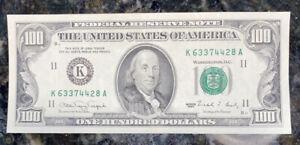 100 dollar bill 1990 Excellent Condition #7