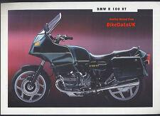 Genuine BMW R100RT (1992) Dealership Sales Brochure R100,Boxer Twin,R 100 RT