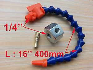 "1/4"" Single Hole Magnetic Base 16'' 400mm Length Valve Coolant Hose for Milling"
