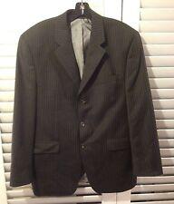 RALPH LAUREN men's 100% wool striped dark gray blazer 3 btn jacket SIZE 42R