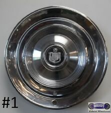 """'60-'61 MERCURY COLONY PARK,14"""" USED HUBCAP, POLISHED, CREST & HEAD LOGO, S-3"""