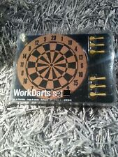 WorkDarts Set - 6 Darts, Push Pins - Mini Dart Board, Office Bulletin Posts