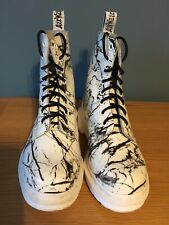 Dr Doc Martens Pascal 1460 White Marble Patent Size 3 Great Condition