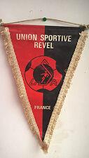 Vintage Fanion U.S Union Sportive Revel France 1983 Football Foot 36 cm x 24 cm