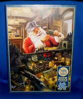 Santa's Railway by Tom Newsom 500 Larger Pieces by Cobble Hill