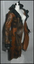 TOP BARBIE TWILIGHT ECLIPSE DOLL VICTORIA  FAUX SUEDE LONG JACKET COAT ACCESSORY