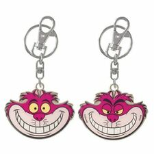Disney NEW * Cheshire Cat 2-Sided Key Chain * Alice in Wonderland Pewter Ring