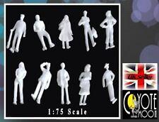 Modelo de arquitectura de escala 1:75 figuras, personas Blanco 00-sin pintar Pack 50 Reino Unido