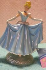 Disney Cinderella Figurine Curtsying in Gown with Dream Inscription
