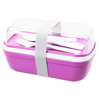 MyBento Purple Nesting Double Layer Food Lunchbox Bento Box Storage Container
