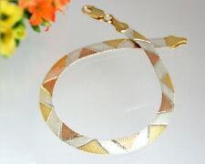 Armband Silber 925 Schlangenkette flach 20,5 cm Sterlingsilber vergoldet sa83