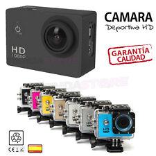 "Camara DEPORTIVA 1080P HD 1,5"" Tipo SJ4000 SJCAM sumergible deportiva AGUA"