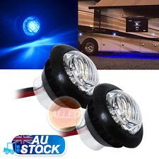 2XBlue 12V LED Flush Mount Car Truck Trailer Mini Marker Light  Motorcycle Lamp