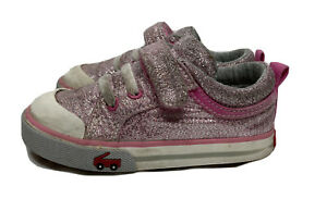 See Kai Run Stevie Toddler Girl's Shoes Size 7 Pink Glitter Sparkle