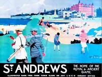 ST ANDREWS FIFE SCOTLAND GOLF ROYAL ANCIENT SPORT ART POSTER PRINT CC6953