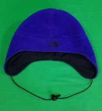The North Face TNF Fleece Beanie Cap Hat Mens Large Made In USA Blue Logo
