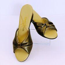 Daniel Green Slippers Metallic Gold 6