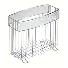 Home Office Toilet Bathroom Magazine Holder Rack Stand Spaper Storage Chrome Chr