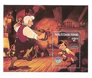 Turks & Caicos Islands ( Disney Pinocchio ) Souvenir Sheet Mint Never Hinged