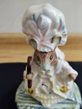 "Vintage Schmid Beatrix Potter lady mouse ceramic musical box ""Hello Dolly"""