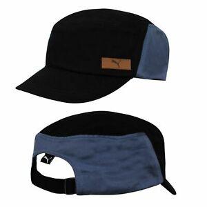 Puma Basic Military Cap Unisex Mens Womens Hat Black Blue 843427 01