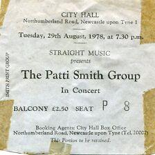 1978 Patti Smith Group concert ticket stub Easter Tour Newcastle Upon Tyne UK