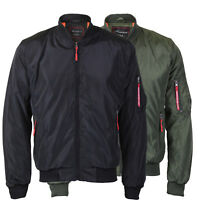 Men's Lightweight Multi Pocket Zip Up Reversible Flight Bomber Jacket Coat MIKE