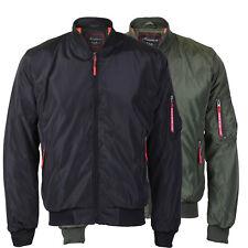 Men's Lightweight Multi Pocket Zip Up Reversible Flight Bomber Jacket Coat MIKE