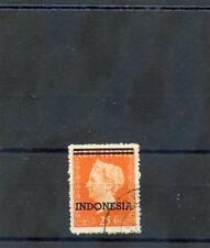 NETHERLANDS INDIES Sc 303(MI 11)VF USED 1948 25G ORANGE, INDEPENDNCE, $180