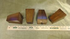 Set of 4, Heavy Duty Mahogany Wood Pyramid Chair/Sofa legs finished in Brown