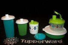 Tupperware kids Formula Dispenser ~Med Wonder Bowl ~Toddler Cup ~Bell Tumblers+