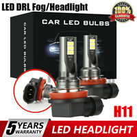 2x H11 CAR LED Headlight Kits 110W 20000LM FOG Light Bulb 6000K Driving DRL Lamp