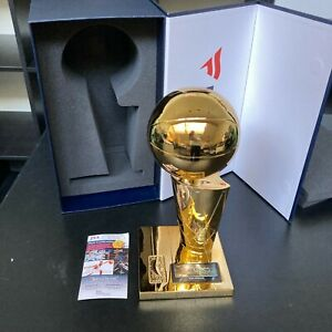 Tim Duncan Signed San Antonio Spurs NBA Championship Trophy With JSA COA