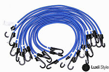 """12pc 30"""" in Bungee Set Cord Elastic Tie Down Straps Hooks Moving Load Securing"""