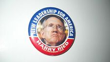 """Harry Ried for President 2008 political pin- 2.25""""pinc"""