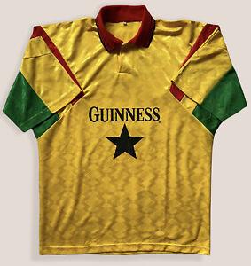 Ghana Guiness 1996 Home Retro 90's Football Shirt XL