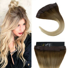 Sunny Invisible Halo Hair with Clips on Human Hair Extension Balayage 6M613